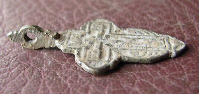 Antique Artifact > 18th-19th C Bronze Russian Orthodox Baptism Cross AA40-8 4