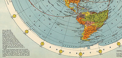 1945 flat earth air age map of the world azimuthal equidistant polar 1 of 2free shipping 1945 flat earth air age map of the world azimuthal equidistant polar projection gumiabroncs Image collections