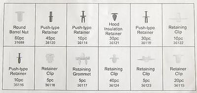 345 Clip Bumper Door Trim Panel Moulding Retainer Assortment For Citroen For VW