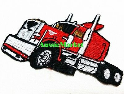 1 x truck patch patches men boys lorry badge motif car bike embroidered craft