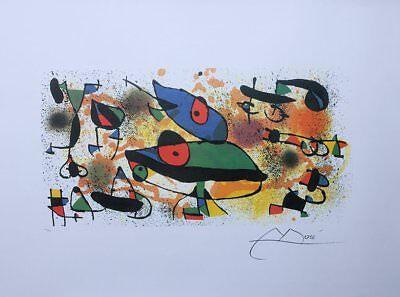 MIRO Joan : Sculpture II  - LITHOGRAPHIE numérotée et signée #500ex