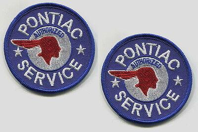 General Motoren Pontiac Muskel Auto Aufbügelbare 2-PATCH Set Service Zeichen
