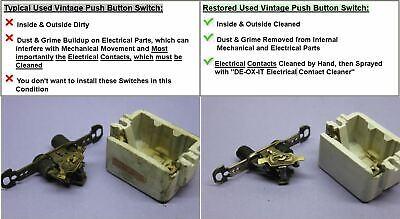 💡 Vintage Push Button Light Switch, Single-Pole Porcelain Mother-of-Pearl Arrow 5