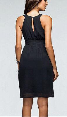 5808202de77 ... Super Chiffon Kleid Perlen-Kragen Cocktailkleid Gr. 44 schwarz 961671  Neu 4