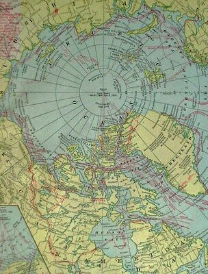 c1900 People's (Cram Licensee) North Polar Regions with Principal Routes of....