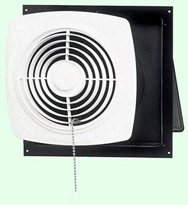 Kitchen Exhaust Fan 8 Pull Chain White Wall Ventilation Laundry
