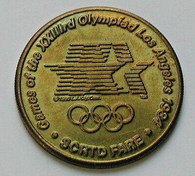 Wrestling 1984 Los Angeles Olympics SCRTD transit token CA450AT