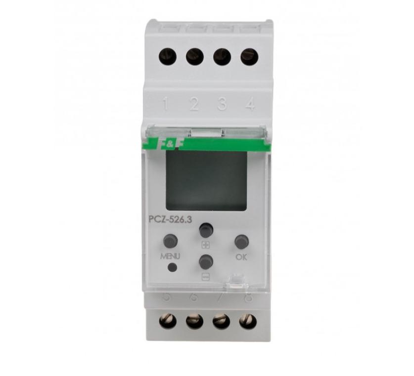 F&F PCZ-526.3 DIGITALE ASTRONOMISCHE ZEITSCHALTUHR NFC 24V ÷ 264V AC / DC 2x 16A 2