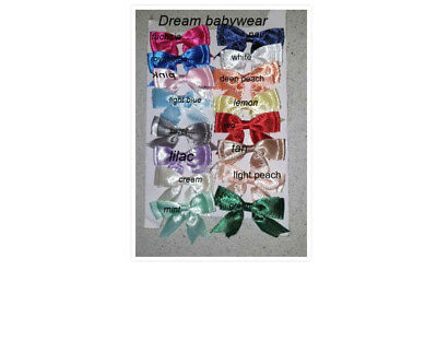 Dream Girls Ribbon Bow Choice 16 Colours Frilly Socks All Sizes Or Reborn Dolls 2