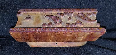 Early 1900's Hand Carved Wood Architectural Plaster Pattern Accent Mold 2 2