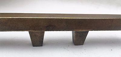 """Brass Mid Century Modern Drawer Pull Vintage  Antique Hardware  1 3/8"""" centers 4"""