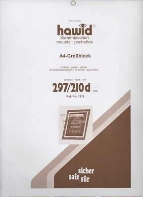 Hawid Stamp Mounts Strips - All x 210mm wide - Black or Clear -  SAVE 20% 12