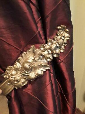 19thc Pair of Victorian Gilt bronze Drapery Tie backs 9