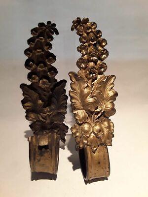 19thc Pair of Victorian Gilt bronze Drapery Tie backs 6