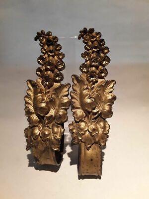 19thc Pair of Victorian Gilt bronze Drapery Tie backs 5