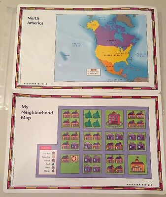 UNITED STATES USA US World Desk Map PLACEMATS States Reverse Home  on 1st usa map, broken usa map, license plate usa map,