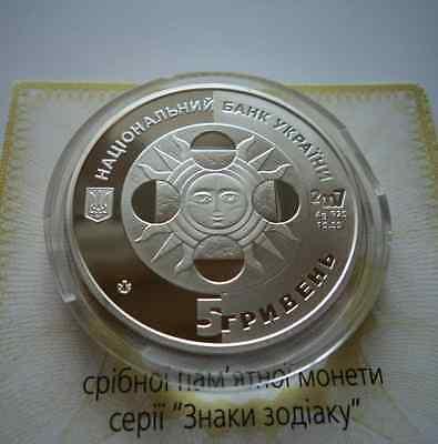 PISCES Ukraine 2007 Silver 5 UAH Proof 1//2 Oz Coin Zodiac Astrology