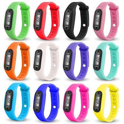COURSE étape MARCHE Montre Bracelet Podomètre Compteur de calories LCD Distance 3