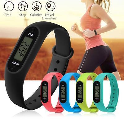 COURSE étape MARCHE Montre Bracelet Podomètre Compteur de calories LCD Distance 2