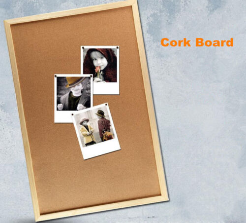 Cork Board Pins Corkboard Pinboard Notice Large Memo Photos Wooden Frame Wall AU