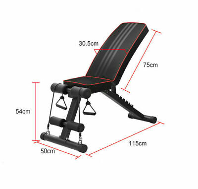Adjustable Fitness Weight Bench Multi Gym Dumbbell Folding Flat Incline Decline 4
