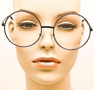 575649badbc ... 5 of 7 Oversized MALINA XL Large Big Round Circle Thin Metal Frames Eye  Glasses Specs 6
