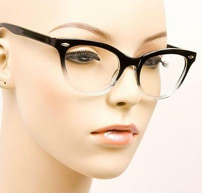 35735fd4fb525 ... Sexy Cat Eye Pin up Ombre Demi Kitti Eyeglasses Glasses Gradient  Vintage Frames 9