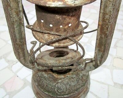 "Antique Made In Germany Feuerhand ""superbaby"" Rail Road Lantern, Excellent 5"