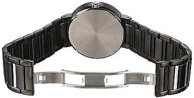Bulova Men's 98D109 Quartz Diamond Markers Black Bracelet 40mm Watch 3
