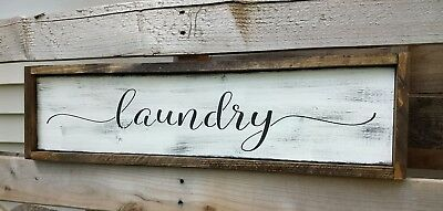 Laundry Room Wood Sign Farmhouse Welcome Home Decor Large