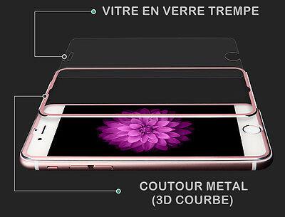 film protection écran VITRE EN VERRE TREMPE Intégral 3D iPhone 7,6,6S,8 Plus X 3