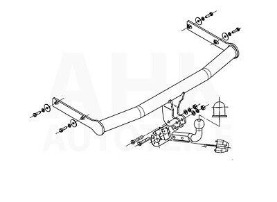Für Volkswagen Polo IV 9N 3/5-Tür Fließheck Anhängerkupplung starr+ES 7p ABE 4