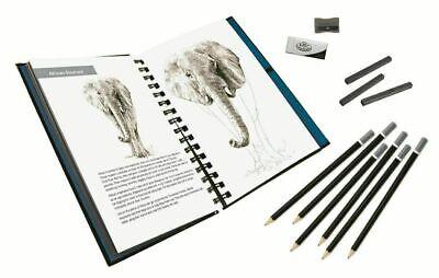 Animals Sketching Made Easy Drawing Kits & Graphite Pencils Set 7