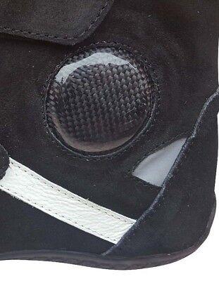 Dettagli su Stivali Minimoto Scarpette in Pelle Con Protezioni TG 27. 28. 29. 30. 31 Fino 44