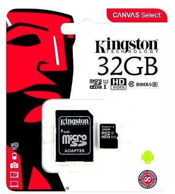 Kingston Micro SD SDHC memory Card Class 10 32GB Memory with SD card Adapter 6