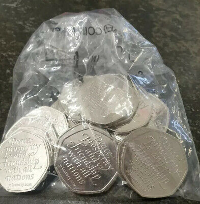 Brexit 50p Pieces 20 Brand New and Uncirculated 50p Coins From Sealed Bag 3