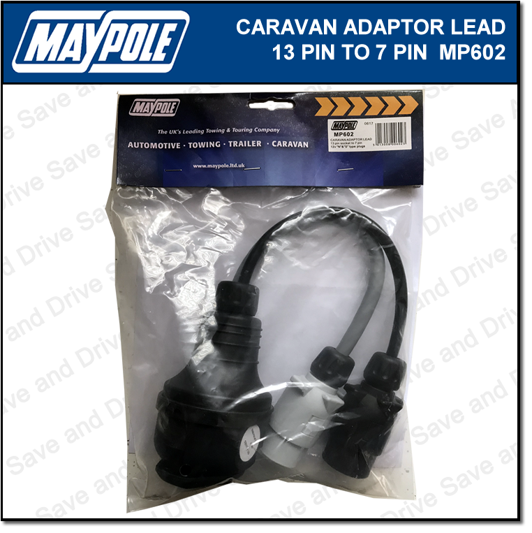 Maypole 7 Pin to 13 Pin Plug Caravan Towing Adaptor Lead 12N/12S Electrics MP602 3