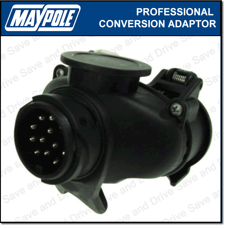 Maypole Towing Conversion Adaptor 13 Pin Socket To 7 Pin 12n & 12s Socket MP6035 2