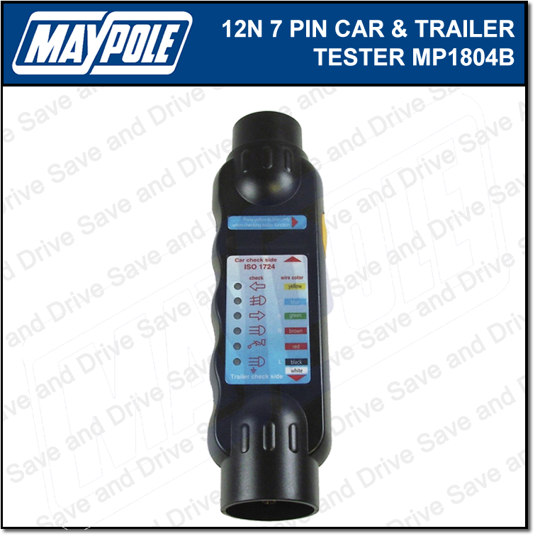 Maypole Towbar & Trailer Wiring Tester Towing Electrics Lights 7 Pin 12N MP1804B 2