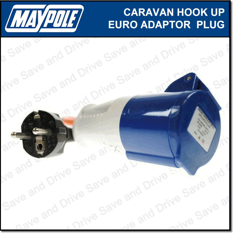 Maypole Caravan 230V Hook Up Euro Mains Adaptor Plug & Socket Electrics MP371 2