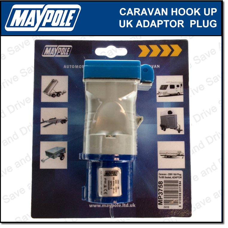 Maypole Caravan 230V 16A Hook Up UK Mains Adaptor Plug & Socket Electrics MP3758 2