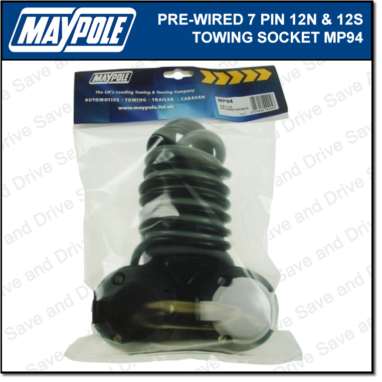 Maypole Pre-Wired 12N & 12S Towing Socket & Cable Trailer Caravan Electrics MP94 2