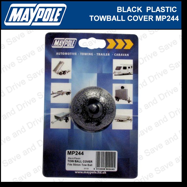 Maypole Black Towball Cover Cap Hitch Towbar Towing Trailer Caravan MP244 2