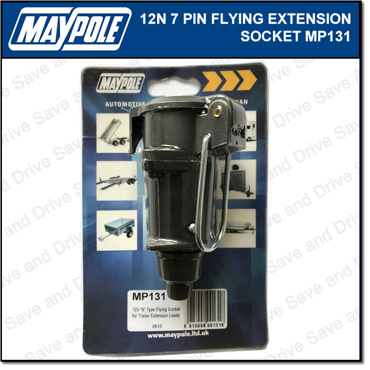 Maypole 12N Flying Socket Extension Towing Trailer Connector & Electrics MP131 2