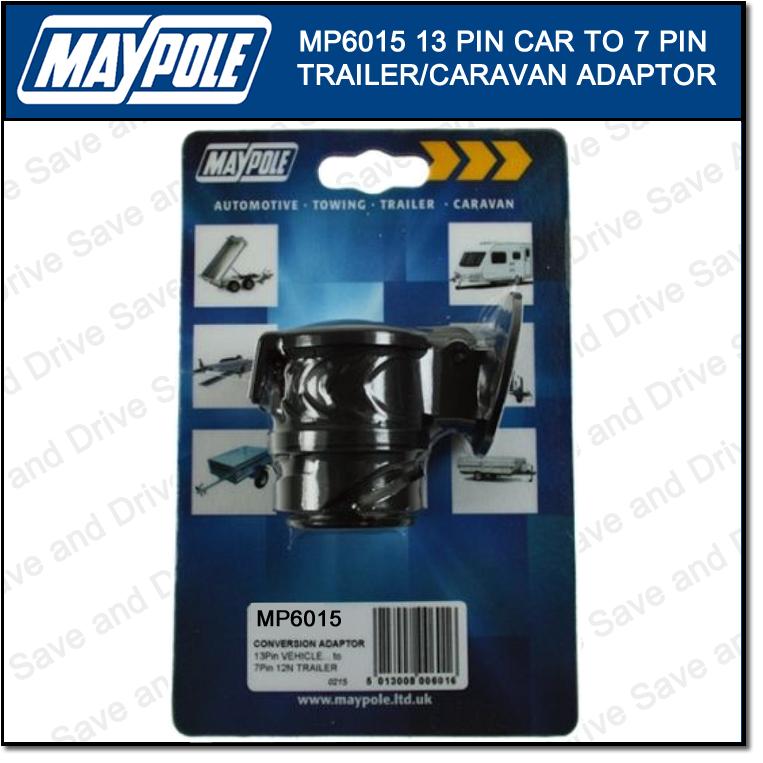 Maypole 13 Pin 7 Pin Conversion Adaptor Towing Trailer Caravan Connector MP6015 2