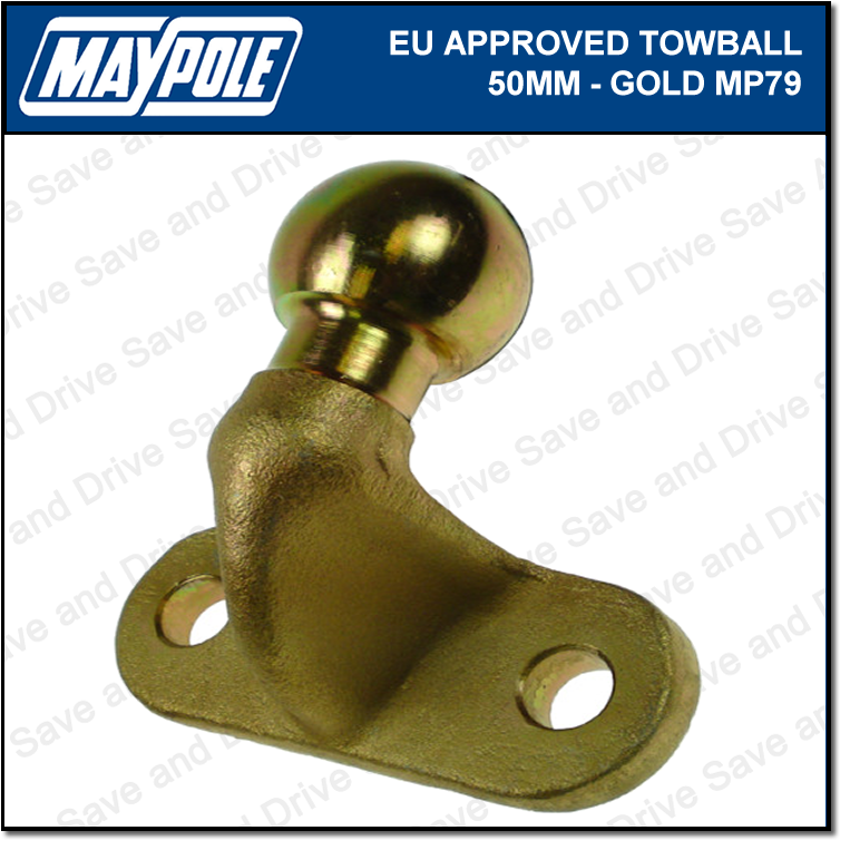 Maypole Universal 50MM Tow Ball Hitch EU Approved Towbar Trailer Towball MP79
