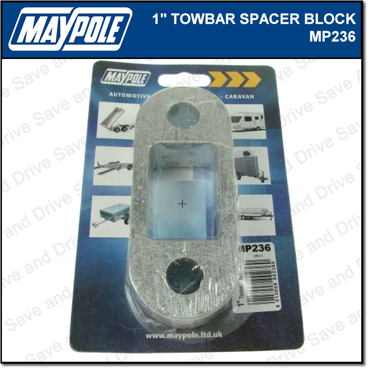 "Maypole Towbar 1 Inch Spacer Block Towing Trailer Caravan Towball 1"" 2.5cm MP236 3"
