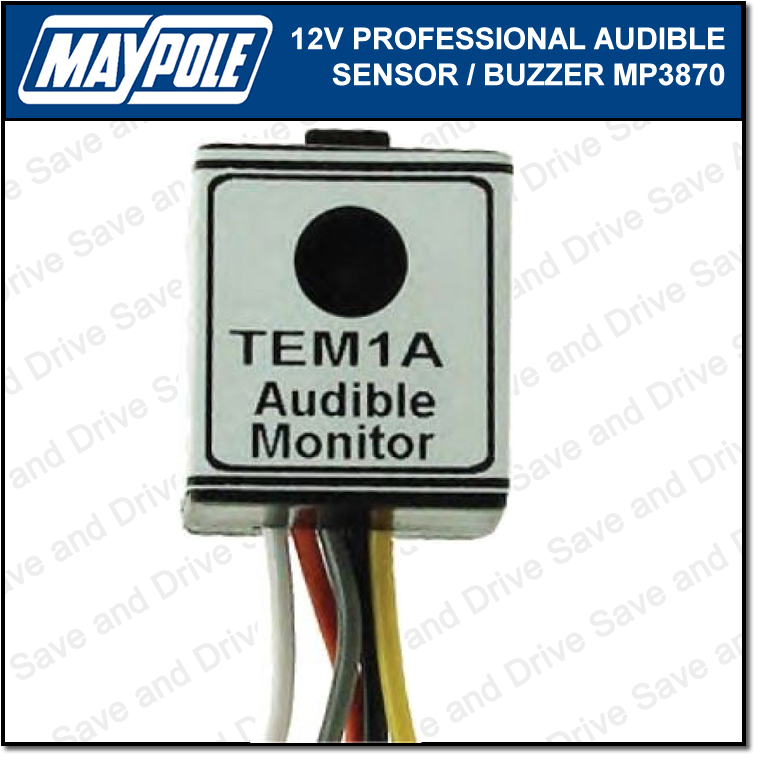 Maypole 12V Audible Buzzer Sensor Relay For Towing Trailer Caravan Towbar MP3870