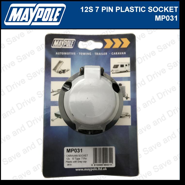 Maypole 12S Socket 7 Pin Towing Trailer Caravan Connector & Electrics 12V MP031 2