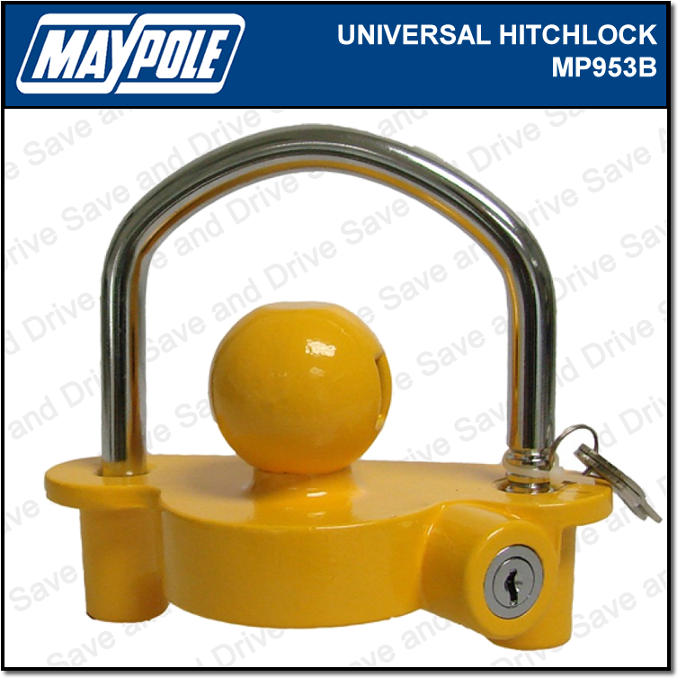 Maypole Universal Trailer, Caravan & Tow Ball Hitch Security Lock 50mm MP953